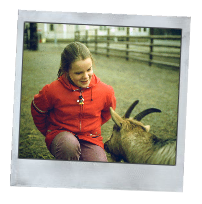 Claire and Goat